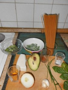 Zeleni preliv za spagete