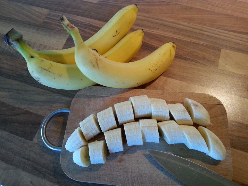 Bananin sladoled s koscki cokolade