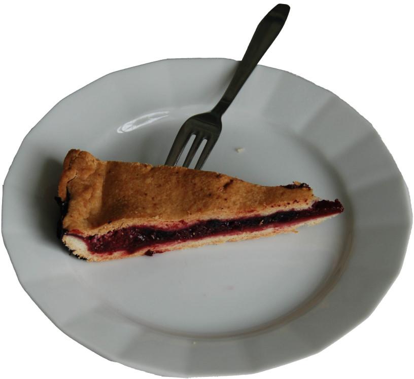 Slastna pita iz borovnic in višenj