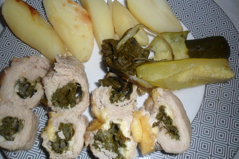 Okusne roladice z blitvo in sirom