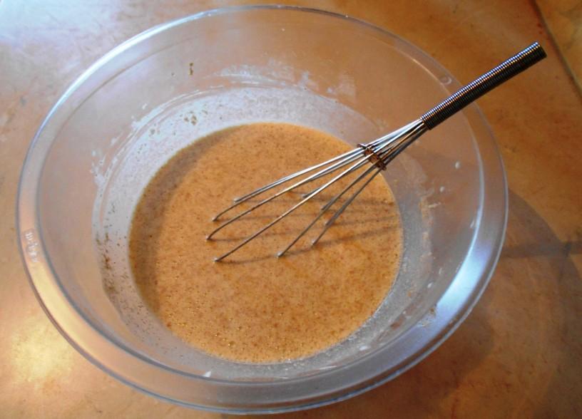 Polnozrnate palačinke s špinačo in gobami