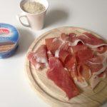 Rižota z mascarpone sirom in pršutom