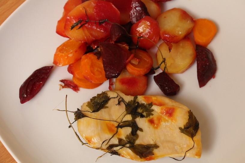 v foliji pecena zelenjava in meso (10)