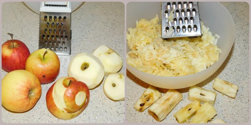 Sočno rožičevo pecivo z jabolki in čokolado