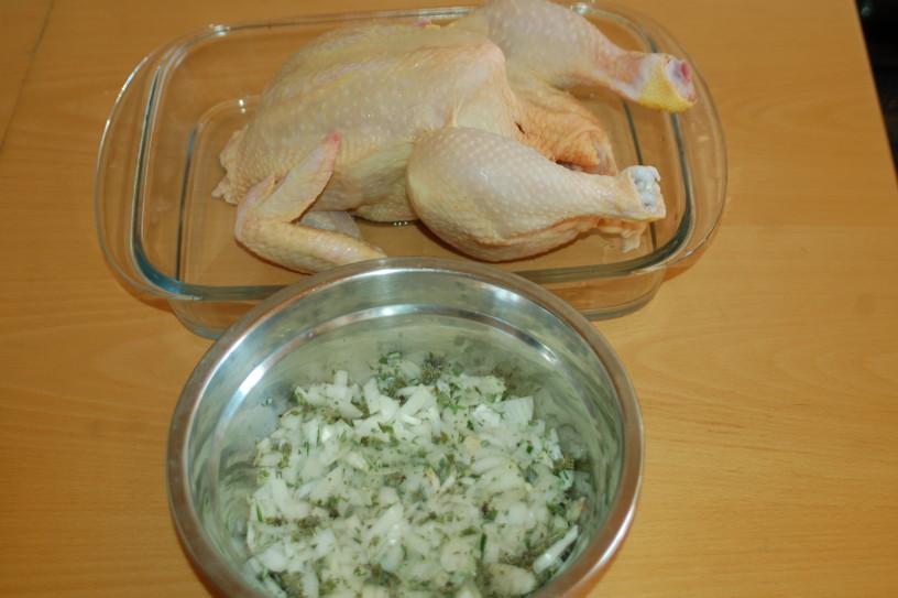 Nadevan piščanec po italijansko