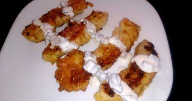 Piščančje palčke s sezamom in tatarsko omako