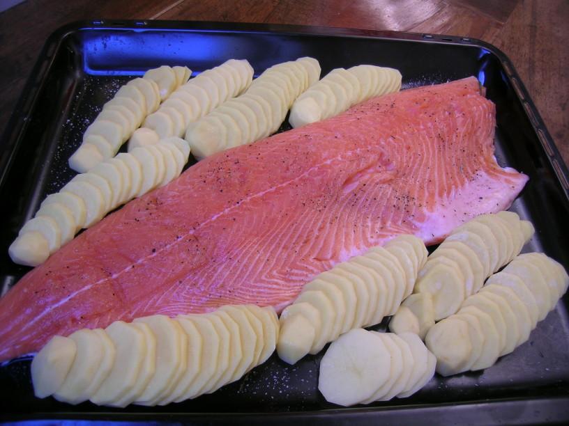 losos-v-pecici-s-smetanovim-krompirjem-7