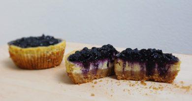 Borovničevi cheesecake maffini
