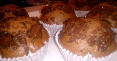 Čokoladni muffini s koščki čokolade