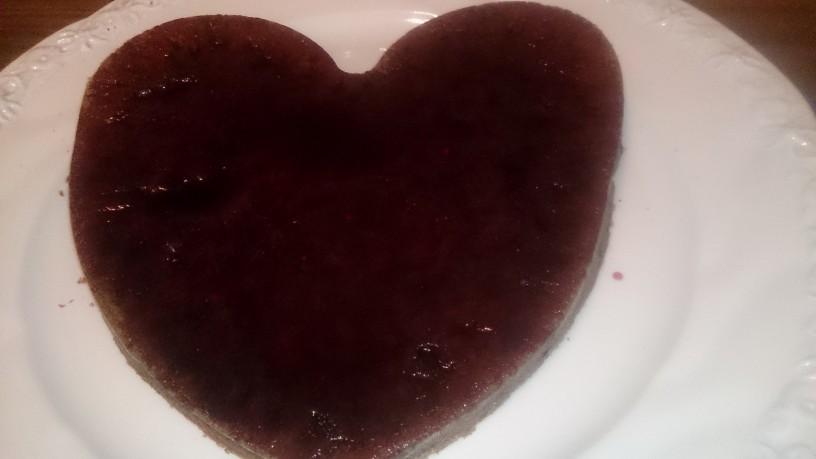 Čokoladno srce z borovnicami