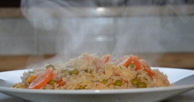 Zelenjavna rižota s piščancem