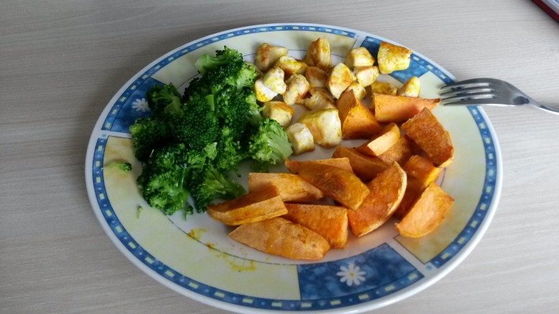 sladki krompir v pecici