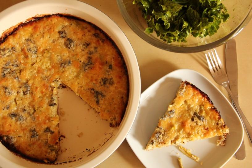 Kvinojina zelenjavna pita s hrustljavo podlago in mehko skorjico (11)