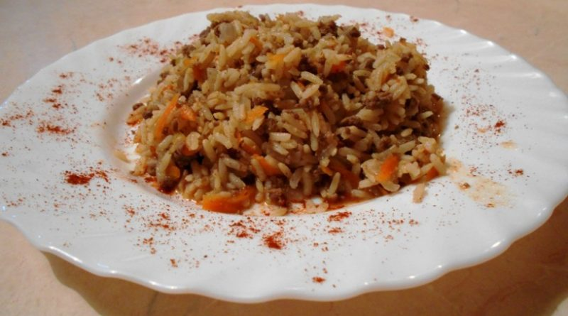 Riž z mletim mesom