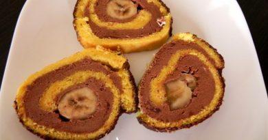 Najboljša čokoladno-bananina rolada