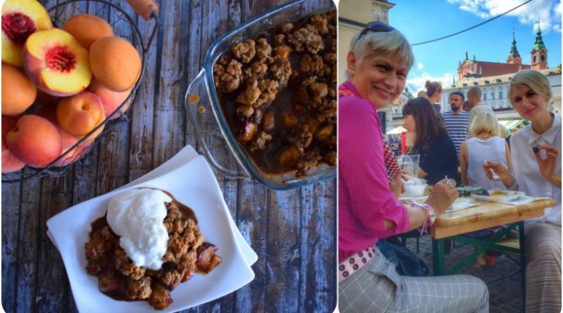 Barbara Drnač in Tereza Poljanič – poletni crumble s kokosovim jogurtom