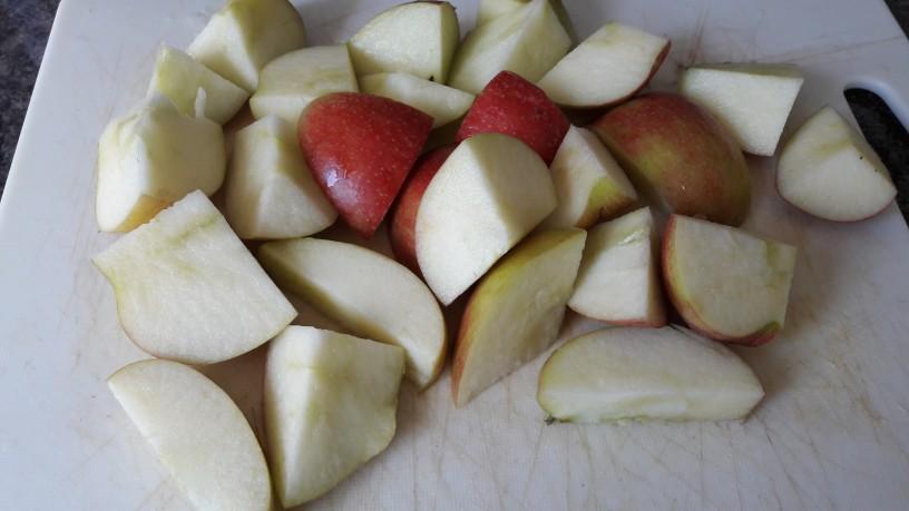 Jabolčne kocke s kakavom za zdrav zajtrk_2