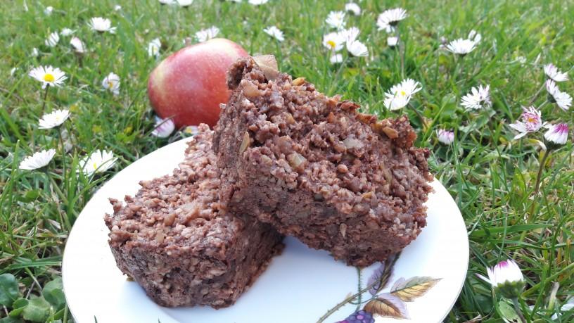 Jabolčne kocke s kakavom za zdrav zajtrk_14