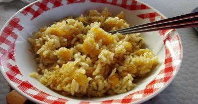 riž z bučo