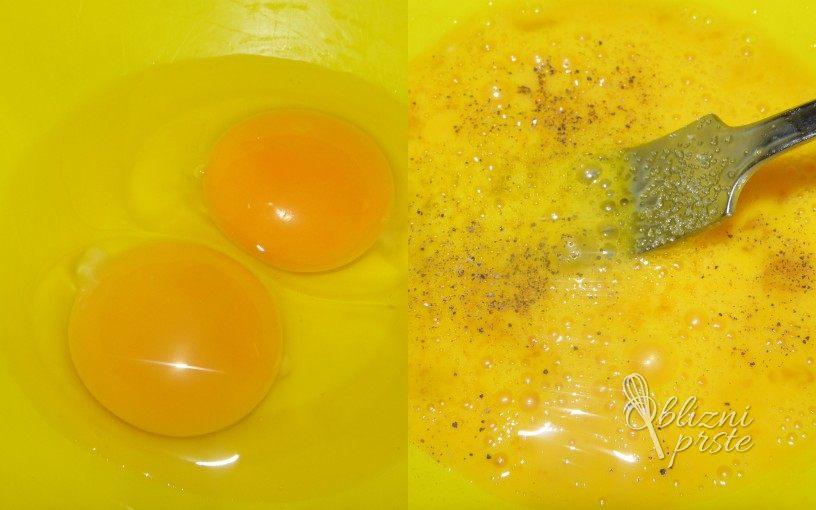 Umešana jajca z avokadom 2