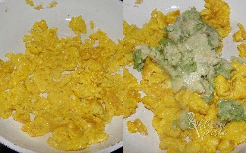 Umešana jajca z avokadom 3