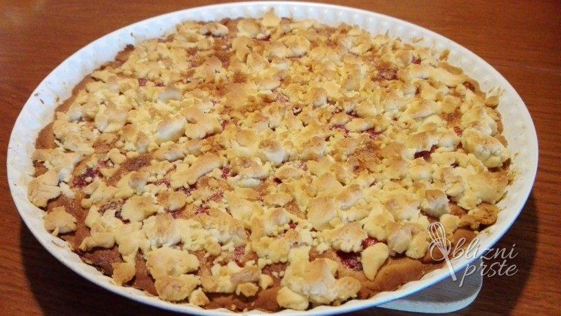 malinova pita z medom