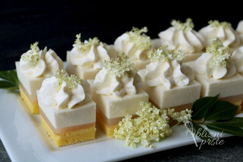 limonina tortica z bezgom