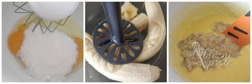 Bananini mafini z Nutello in kokosom