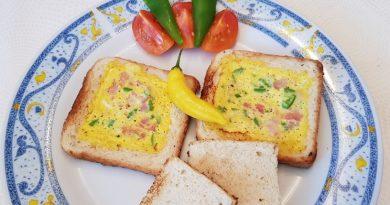 Toast z umešanimi jajci