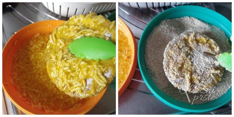 Ocvrte dežnikarice (marele) s sirom in sezamom