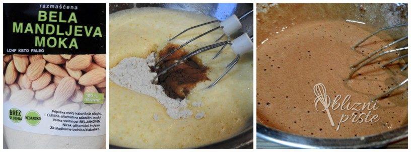 Lchf čokoladna rolada z malinami