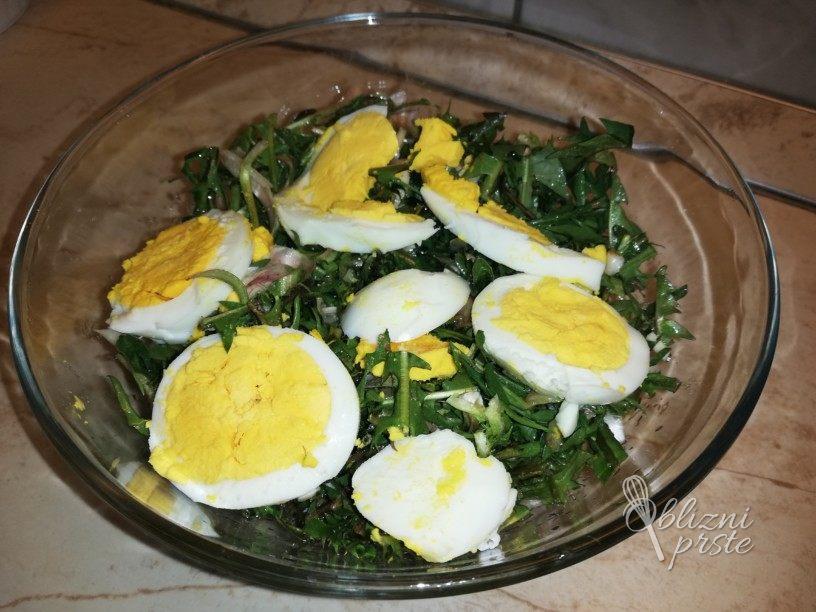 Regratova solata z jajci 5