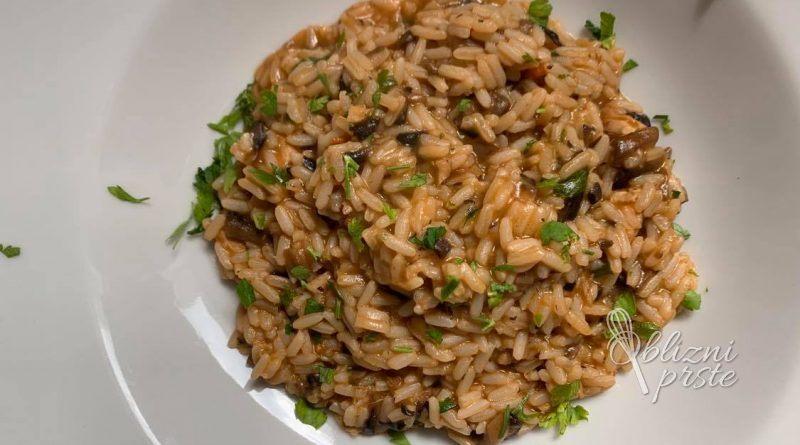 Kremna gobovo - piščančja rižota