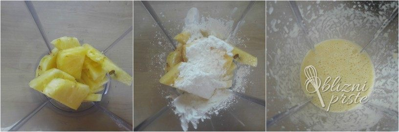 Jagodno ananasova torta brez peke
