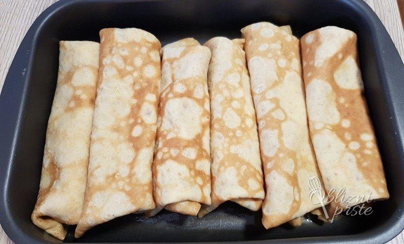 Skutine palačinke - zapečene v pečici