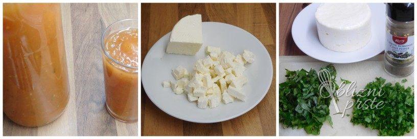 Stročji fižol s krompirjem in sirom iz slanice