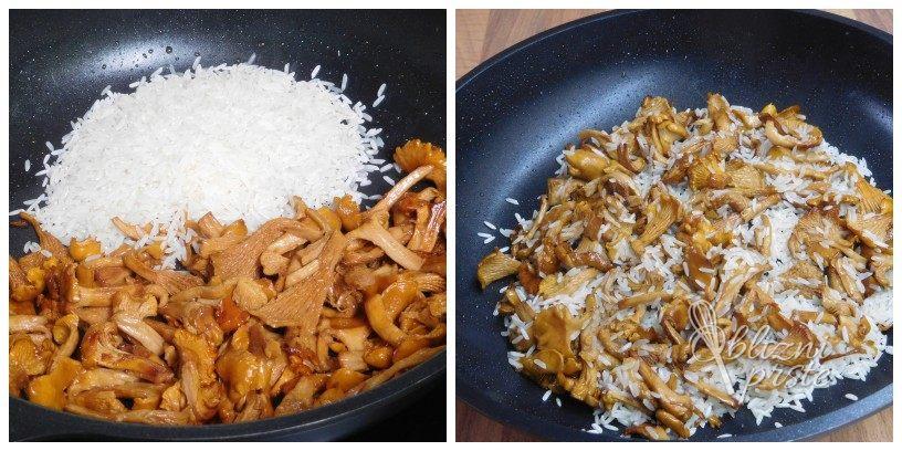 Lisičke v rižoti