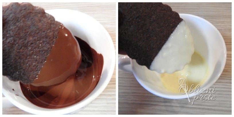 cokoladni piskoti s pentljo