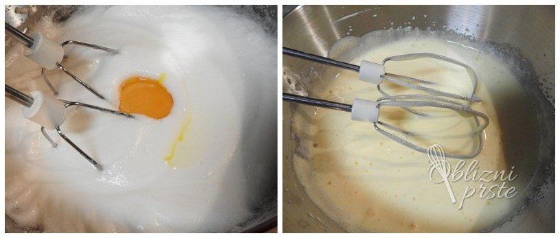 socno pecivo s pudingom in kislo smetano