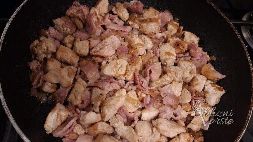 Pečene testenine s piščancem