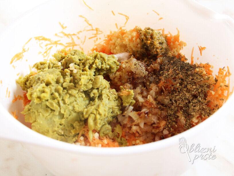 Zelenjavni polpeti brez jajc in moke
