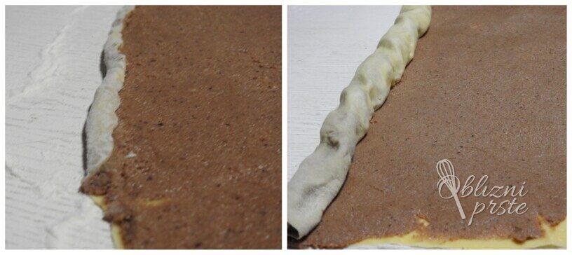 orehova potica s pudingom