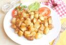 Pečen krompir v koščkih za začetnike