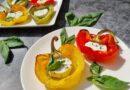 Hitre paprike, polnjene z mehkim kozjim sirom