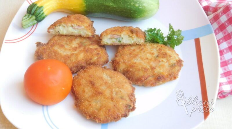 Bučkini polpeti s šunko in sirom
