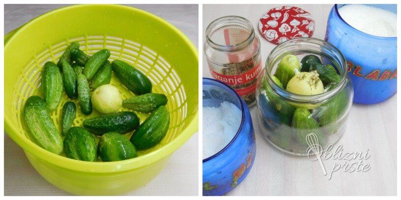 Pasterizirane, vložene kisle kumarice