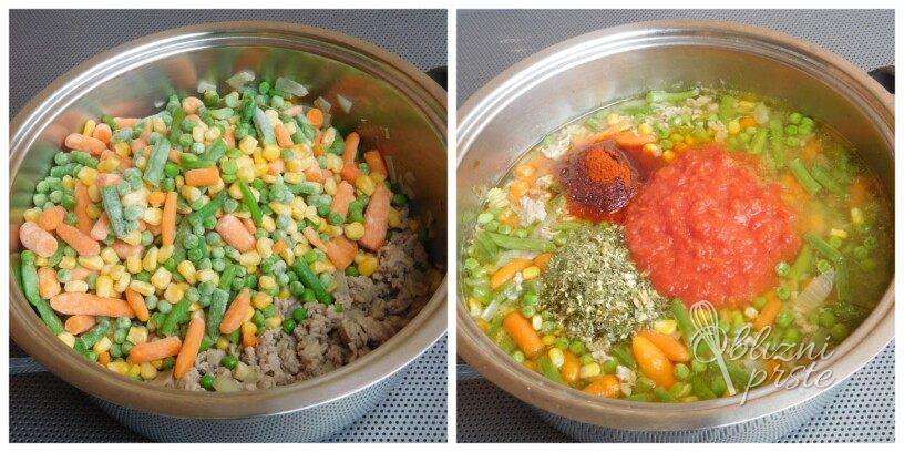 Zelenjavno mesna juha