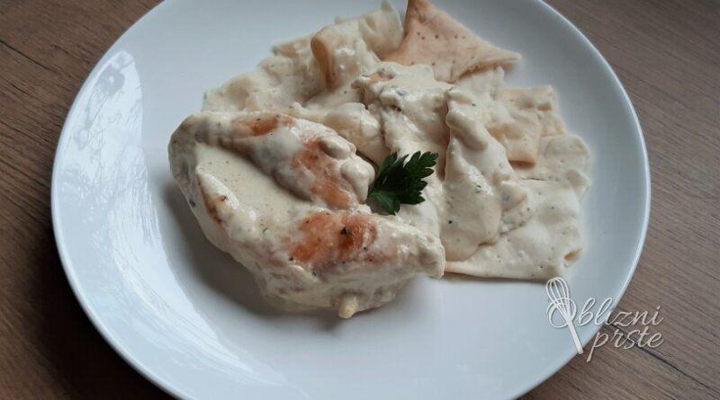 Piščančji zrezki v mascarpone omaki