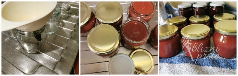 Breskova marmelada z jagodami
