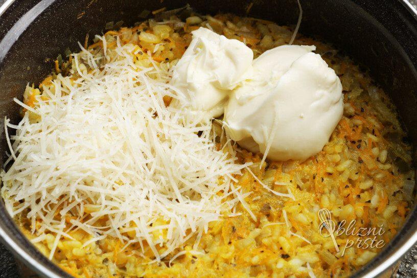 Kremna porova rižota s korenjem